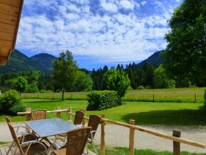 terrace of Chalet camping de Martiniere