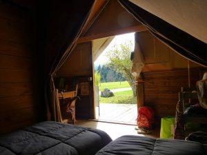 Tente alpine interieur